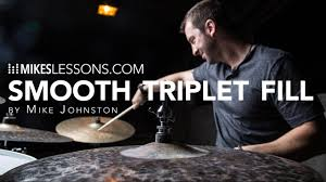 Drum Lesson - Smooth Triplet Fill - by Mike Johnston - YouTube