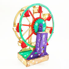 <b>Fashion Top Electric</b> Wooden Ferris Wheel Puzzle Construction-buy ...
