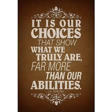 Amazon.com: (13x19) Our Choices JK Rowling Quote Poster: Posters ...