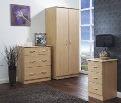 Lyon Walnut Bedroom Furniture Camden Ash And Cream 3 Over 4 Drawer Chest Of Drawers