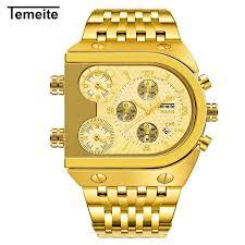 TEMEITE <b>Men Fashion</b> Metal Watch <b>Waterproof</b> Business Quartz ...