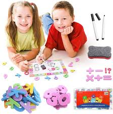 199Pcs Magnetic and Numbers Set for Kids Drawing Board ...
