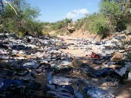 Trash left by illegal aliens in Arizona
