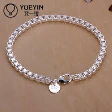 punk style Snake Chain <b>silver</b> plated bracelet for women men unisex ...