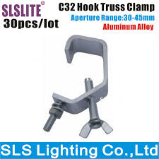 30 pack 10a 30 45mm truss pipe new g clamp stage cheap lighting effects