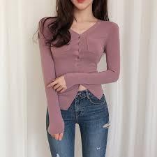 2019 <b>Shintimes</b> Blusas Mujer De Moda 2018 <b>Pockets</b> Button V Neck ...