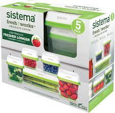"""Набор контейнеров <b>Sistema</b> """"FreshWorks"""" 5шт, 53155 — купить в ..."""
