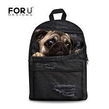 <b>FORUDESIGNS</b> Women <b>Backpacks</b> for Teenage Girls Cat Pug Dog ...