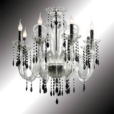 victoria eight lights crystal and black murano glass chandelier lamp black crystal chandelier lighting