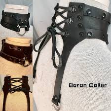 Steampunk Fashion Leather <b>Choker Collar</b> In <b>Handmade Vintage</b> ...