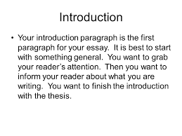 ant tiqa rrc introduction your introduction paragraph is the  introduction your introduction paragraph is the first paragraph for your essay it is best to