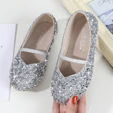 Online Shop New Spring Children Princess Shoes Girls Sequins ...