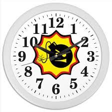 <b>Часы круглые из</b> пластика Serious Sam #378428 от BURNSHIRTS