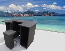 Outdoor Patio Wicker Furniture New Resin <b>4 Pc Bar</b> Dining Server ...