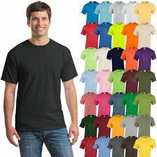 <b>Gildan</b> Mens Plain T <b>Shirts</b> Solid Cotton Short Sleeve Blank <b>Tee Top</b> ...