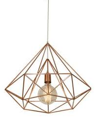 himmeli light diamond cage pendant geometric copper matte chandelier 180 sek liked on polyvore featuring home lighting ceiling lights decor arteriors soho industrial style pendant light fixture