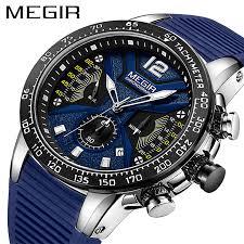 <b>Relogio Masculino MEGIR Men</b> Watches Silicone Sport ...