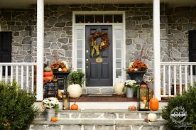 ideas fall front porches
