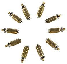 Saver <b>DIY 11MM Hex Brass</b> Cylinder + Screw + Nut Kits: Amazon.co ...