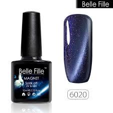 Belle FILLE кошачий глаз гель <b>лак для ногтей глиттер</b> 3D Soak Off ...