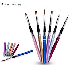 <b>1 pcs</b> New <b>6 Colors Metal</b> Handle Nail Art Brush Pen UV Gel Polish ...