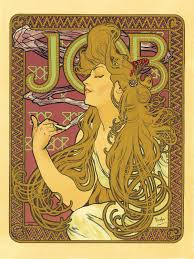 vintage french advertisements poster art nouveau job cigarettes vintage french advertisements poster art nouveau job cigarettes 18x24 13 00 via