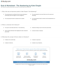 quiz worksheet the awakening by kate chopin com print the awakening by kate chopin characters themes symbols worksheet