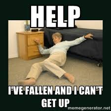 HELp I've fallen and I can't get up - life alert lady | Meme Generator via Relatably.com