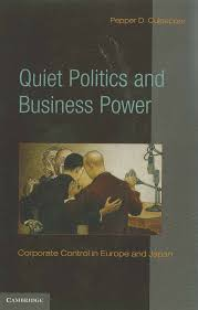 quiet politics and business power corporate control in europe and files in this item