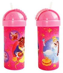 МФК <b>Стакан</b> Disney Принцессы с крышкой и трубочкой <b>400 мл</b> ...