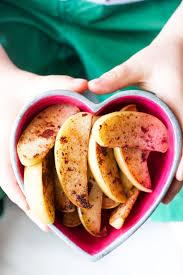 Sautéed Apple and Cinnamon Wedges - Healthy Little Foodies