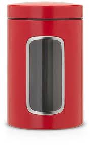 <b>Контейнер для сыпучих</b> продуктов с окном 1,4л (красный ...