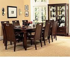 balboa 10 pc dining set table six side chairs two arm chairs and china cabinet balboa side chair