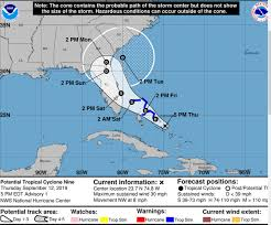 First advisory issued by the National Hurricane Center for Potential ...