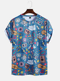 Shop Now For The <b>Mens</b> Funny Cartoon <b>Printed Round</b> Neck Short ...