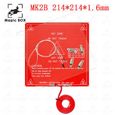 <b>3D Printer Parts</b> MK2B <b>214*214</b>*1.6mm Heated+LED+Resistor+ ...