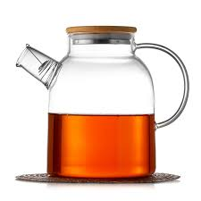 "<b>Чайник стеклянный заварочный</b>, Бамбук ""Бочонок"", <b>1500</b> мл"