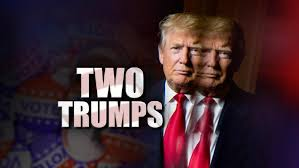 Image result for 2 sides of Donald Trump