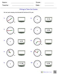 Time Worksheets | Time Worksheets for Learning to Tell TimeReading Analog and Digital Clocks Worksheets