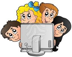 Image result for clip art child working on computer