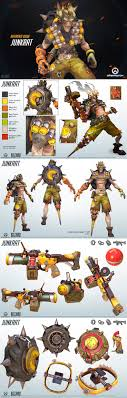 top ideas about game character design game overwatch spotlight junkrat this crazy junker uses explosives to get the edge in battle