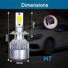 <b>C6 Car LED Headlight</b> Bulb COB Super Bright H1 1500W 6000K ...