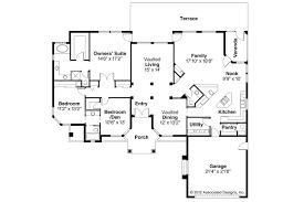 Spanish Style House Plans   Richmond     Associated DesignsSpanish Style House Plan   Richmond     Floor Plan
