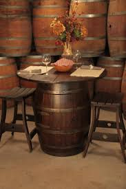 english oak pub table: wine barrel pub table and stools perfect for in the kitchen love love love