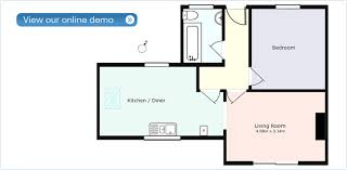 Create floor plans  home plans easily online   KlikplanFloor Plan Demo