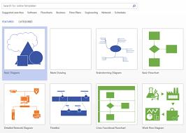 tutorial   how to build basic diagram in microsoft visio    select basic diagram