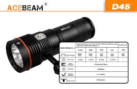 Acebeam D45 <b>CREE XHP70 LED</b> 200 meters diving <b>light</b> Global ...