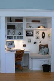 making unused closet into office closet into office alcove office