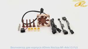 <b>Вентилятор</b> для корпуса <b>40mm Noctua NF</b>-<b>A4x10</b> FLX - 3D-обзор ...