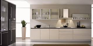 kitchen modern cabinets designs:  wonderful use of glass in a black and white kitchen